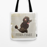poodle Tote Bags featuring Poodle by 52 Dogs