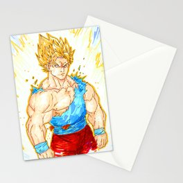 goku super sayian Stationery Cards