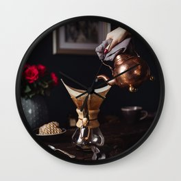 Freshly Brewed Coffee Wall Clock