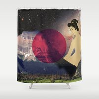 japan Shower Curtains featuring Japan by Blaz Rojs