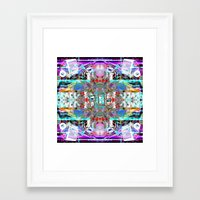 rave Framed Art Prints featuring RATE RAVE by Riot Clothing