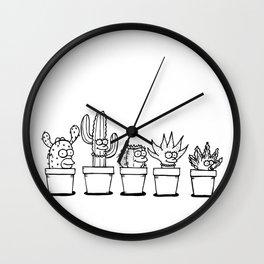The Succulents Wall Clock