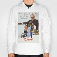 scarface Hoodies featuring Cheney Scarface by vipez