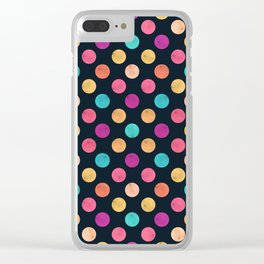 Watercolor Dots Pattern VI Clear iPhone Case