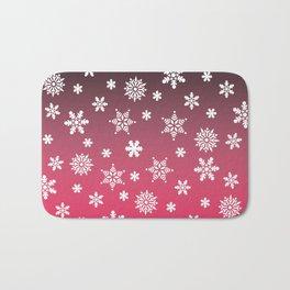 Snow Flurries-Pink/Black Ombre Bath Mat