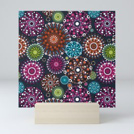 Mandala Dots Mini Art Print