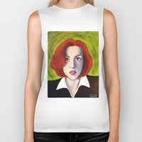 dana scully Biker Tanks featuring Dana Scully: Xfiles by Cameron Tyme Edison
