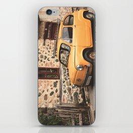 Yellow car vintage iPhone Skin