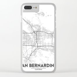 Minimal City Maps - Map Of San Bernardino, California, United States Clear iPhone Case
