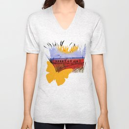 The Train Passed By Unisex V-Neck