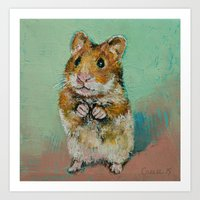hamster Art Prints featuring Hamster by Michael Creese