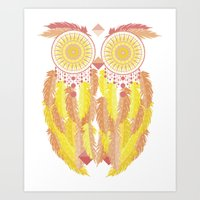 coachella Art Prints featuring Coachella by Dulce Velasco