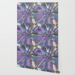 Fractured Grey Purple Blue - Abstract Art by Fluid Nature Wallpaper