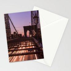 Brooklyn Bridge By Night Stationery Cards
