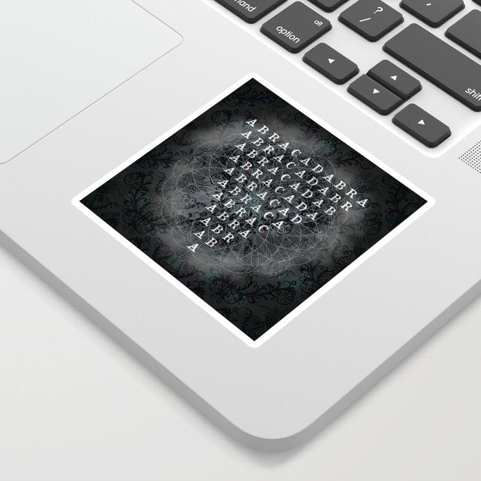 Abracadabra Reversed Pyramid in Charcoal Black Sticker