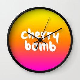 CHERRY BOMB Wall Clock