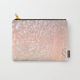 Diamonds are girls best friends II - Pink glitter texure Carry-All Pouch