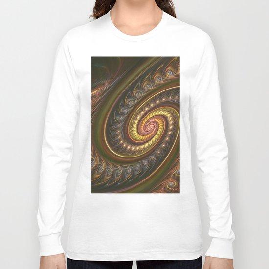 Spirals in a spiral, fractal abstract Long Sleeve T-shirt