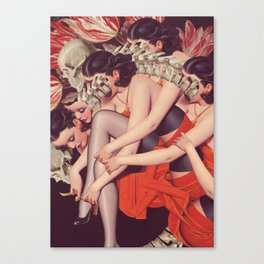 whisper *collage Canvas Print