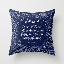 Where dreams are born Throw Pillow