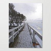 finland Canvas Prints featuring Frozen Finland by Chema G. Baena Art