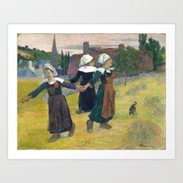 Paul Gauguin, Breton Girls Dancing, Pont-Aven, 1888 Art Print