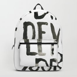 Handwritten inspirational quote Backpack