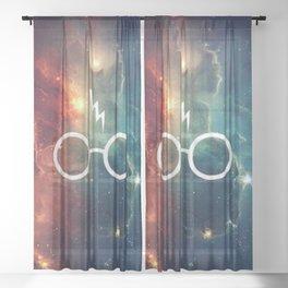 Lightning Scar Nebula HP Sheer Curtain