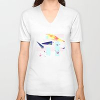 planes V-neck T-shirts featuring Planes by StazKnak