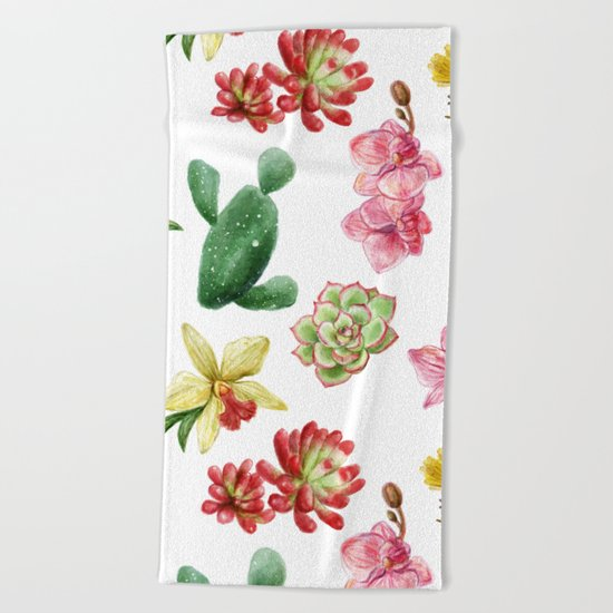 CACTUS PATTERN Beach Towel