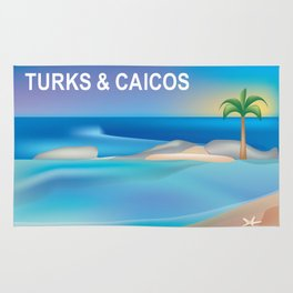 Turks and Caicos - Skyline Illustration by Loose Petals Rug