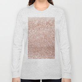 Sparkling Rose Gold Blush Glitter #2 #shiny #decor #art #society6 Long Sleeve T-shirt