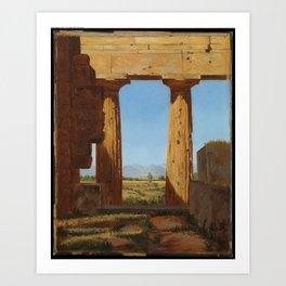 San Pietro in Vincoli by Constantin Hansen, 1836... Art Print