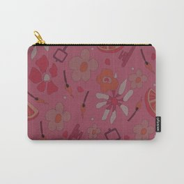 60s flower pattern version 3 Carry-All Pouch