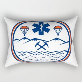 Land Sea Air Rescue Icon Rectangular Pillow