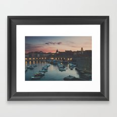 red sky at night ... Framed Art Print