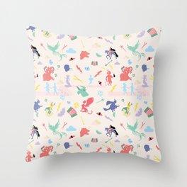 Mythological pattern Throw Pillow