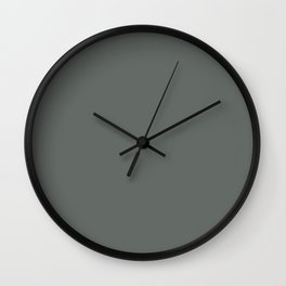 Dark Muted Green Grey Solid Color Inspired by Jolie Paint 2020 Color of the Year Legacy Wall Clock