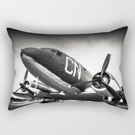 C-47D Skytrain Black and White Rectangular Pillow
