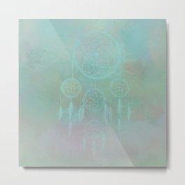 Aqua Dreamcatcher Metal Print