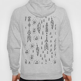 Diamonds, arrows & feathers Hoody