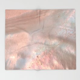 Mother of pearl in rose gold Throw Blanket