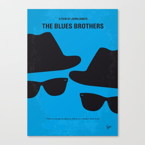 No012 My Blues brothers minimal movie poster Canvas Print