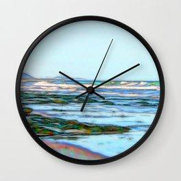 Beautiful abstract ocean view Wall Clock