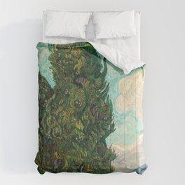 Cypresses by Vincent van Gogh Comforters