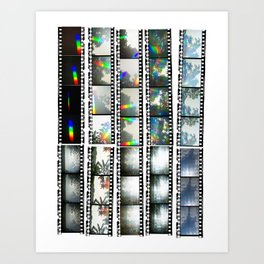 Film Strips From Outer Space Art Print