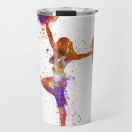 young woman cheerleader 06 Travel Mug