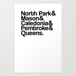 Northpark Apersand Art Print