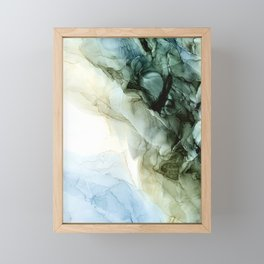 Land and Sky Abstract Landscape Painting Framed Mini Art Print