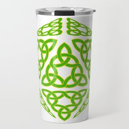 St Patrick's Day Celtic Triquetra D20 Travel Mug
